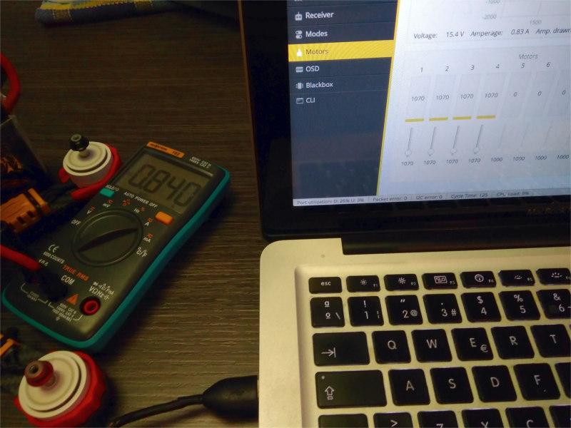 Ejemplo Calibracion Sensor Betaflight
