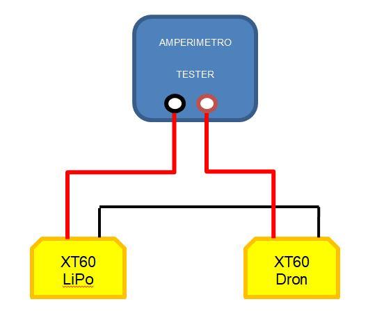 Esquema conexión cable sensor de corriente betaflight