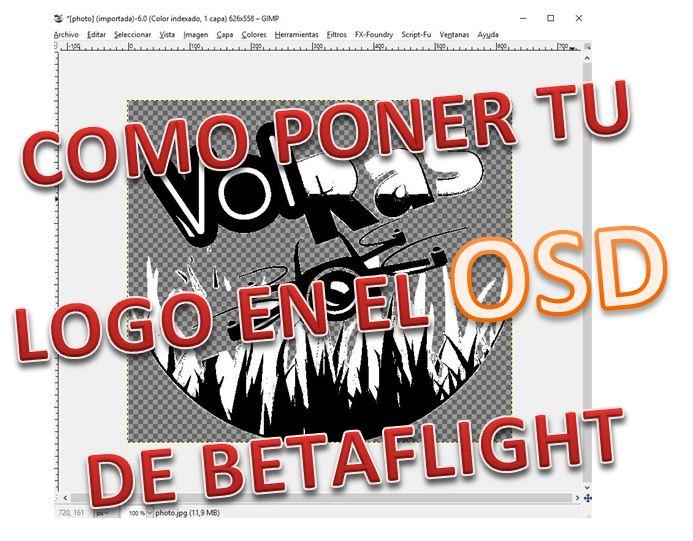 Pon tú LoGo en la pantalla de inicio de Betaflight