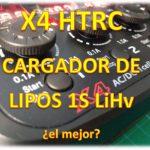 Cargador X4 HTRC LiPos 1S con Control de Carga
