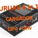 URUAV 6 in 1 PRO Cargador LiPo 1S