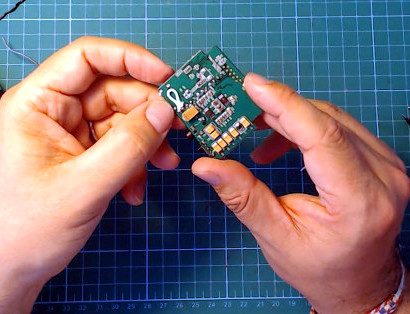 Detalle Puente inductor L1 Fatshark