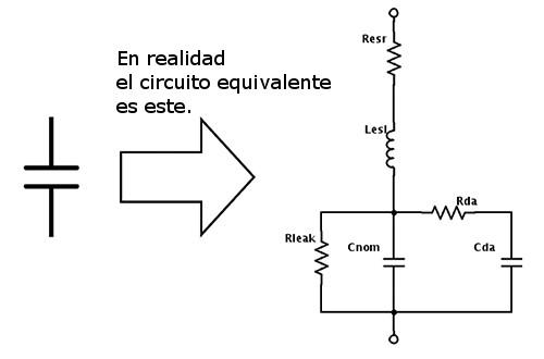 circuito equivalente condensador