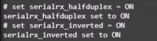 Comandos F-Port HalfDuplex
