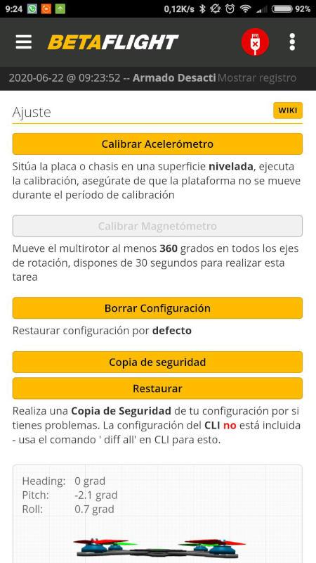 Nueva Aplicacion Betaflight